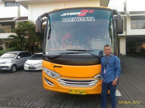 Sewa Bus Medium Pariwisata Jogja Purwokerto Purbalingga Banyumas