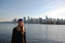 Me! With Vancouver in the background