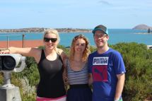 Our beautiful friend Kate, me and Rob in Adelaide in February