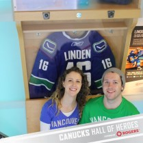 This was a photo booth type thing in the arena, sitting in front of Trevor Lindens 'locker'