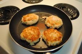 Yummy salmon burgers!