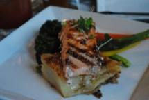 My delicious salmon dinner...sooo yummy! Sorry so blurry!