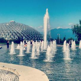 Fountain and Bio-Dome