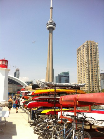 CN Tower in the background