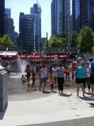 Kids splash pool area