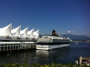 View of Canada Place and a cruise ship