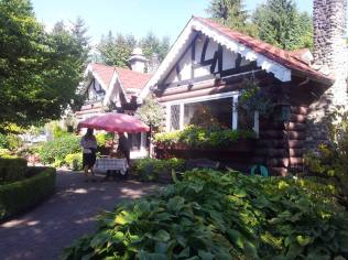 Pretty restaurant across the street