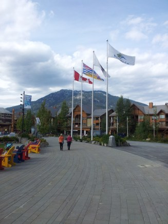 Olympic Plaza in the village