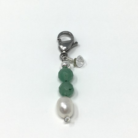 crystal accessories, charm, pet charm, green aventurine