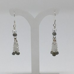 moonstone, labradorite, moonstone earrings, labradorite earrings, lightworker earrings