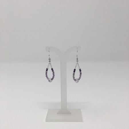 amethyst, amethyst earrings, jewelry for psychics, crystal jewelry