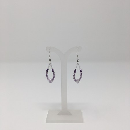 amethyst, amethyst earrings, jewelry for psychics, crystal jewelry