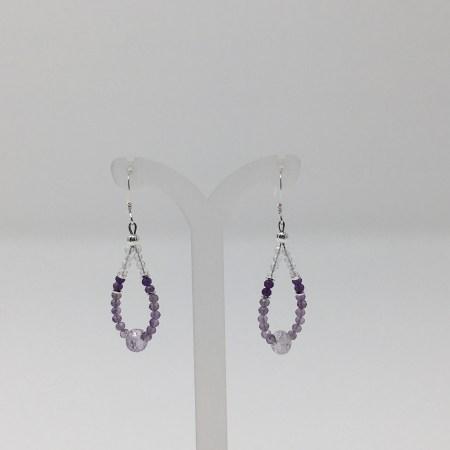 amethyst, amethyst earrings, healing jewerly, crystal jewelry