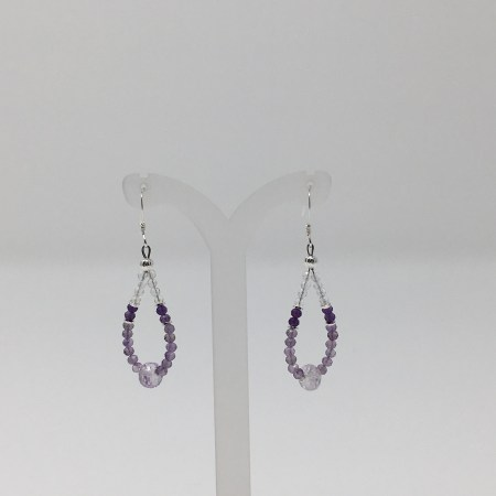 divine mystic, amethyst earrings, healing jewerly, crystal jewelry