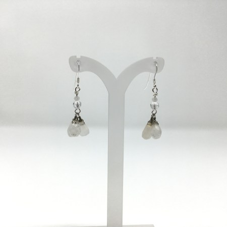 moonstone earrings, dangling earrings, sterling silver
