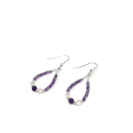 amethyst earrings, crystal earrings, put the light here, psychic, source