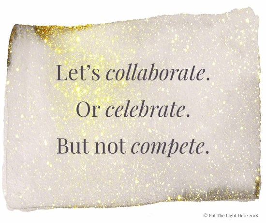 collaboration wins, celebrate others, conscious business, spiritual business