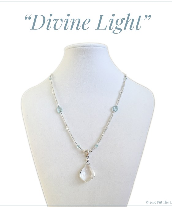 divine light, healing crystals, pure light, crystal necklace