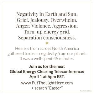 global energy clearing, lightwarriors, real lightworkers, jen wozny