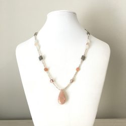 moonstone necklace, meditation jewelry, psychic jewelry, develop intuition, feminine energy
