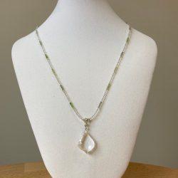 shaman necklace, peridot necklace, healing jewelry, spiritual jewelry, crystal necklace
