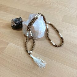 wood mala, 108 beads, stone mala, ottawa mala, mala men