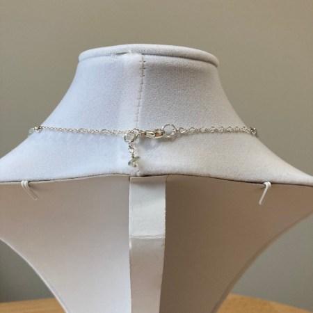 moldavite charm, moldavite, details, sterling silver chain,