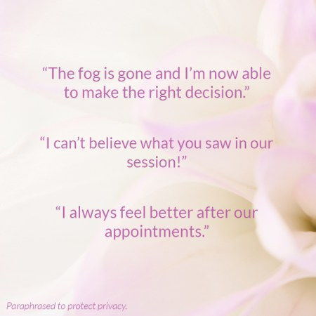i'm in a fog, help with decision making, reiki testimonial ontario, energy healing testimonial, put the light here