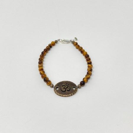 crystals clarity, crystals success, om jewelry, grounding bracelet, healing bracelet