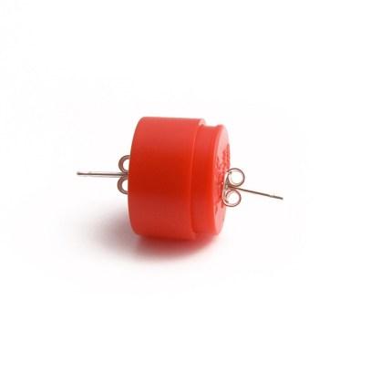 _fitting red earpin ag925 plastic 2
