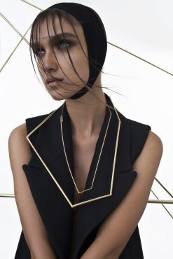 "Noritamy - necklace ""Joints collection"" - gold dipped brass - photo: Keith Glassman"