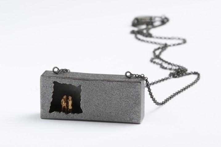"Simeon Shomov ""Closer"", necklace – silver 925′, gold plated 24k"