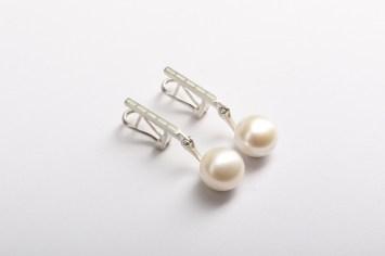 Valdis Brože,auskari - sudrabs 925', pērles, emalja