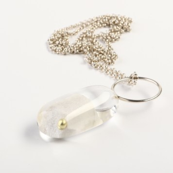Ted Noten, necklace - acrylic, gold plated pearl, silver 925
