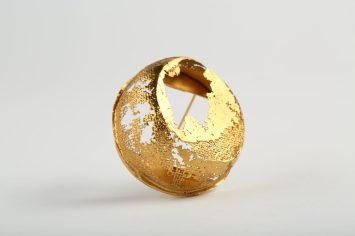 YASUKO KANNO, Piespraude 2019, apzeltīts sudrabs 925