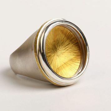 ANDRIS LAUDERS Latvia, ring – Silver 925, gold 18k