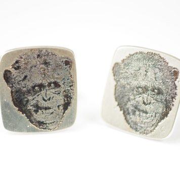 Lena Lindahl, cufflinks, Business sense - silver