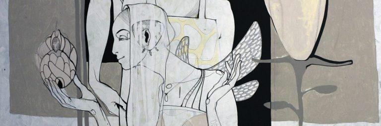 Roberts Koļcovs, Purpose, painting - canvas, acrylic paint, ink, graphite