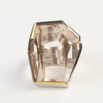 Māris Auniņš, gredzens - sudrabs 925, zelts 750, topāzs