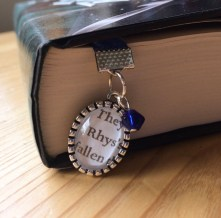 Other side of the ribbon bookmark - Rhys charm.