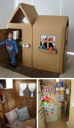 casa completa de cartón DIY