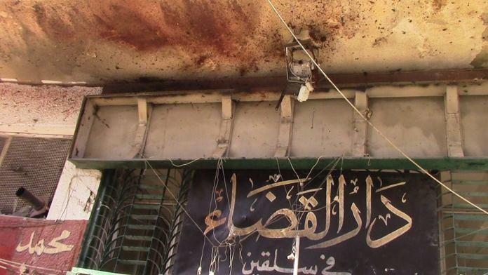 Šerijatski sud Džebhetun-nusre u Salkinu nakon eksplozije IDIŠ-ovog bombaša samoubice