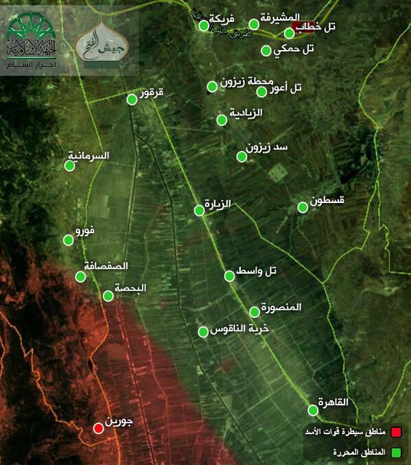 Mapa kontrole visoravni gab nakon najnovijih borbi