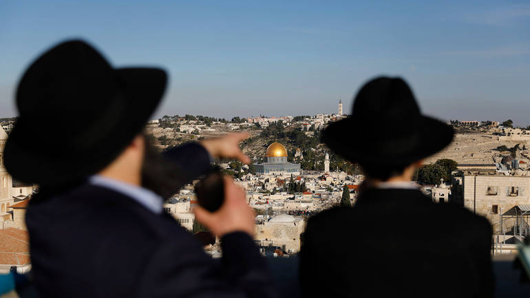 zidovi u Kudsu, jerusalemu