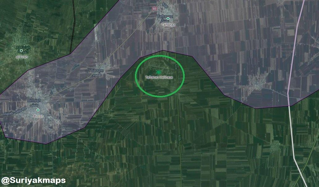 Taftanaz mapa