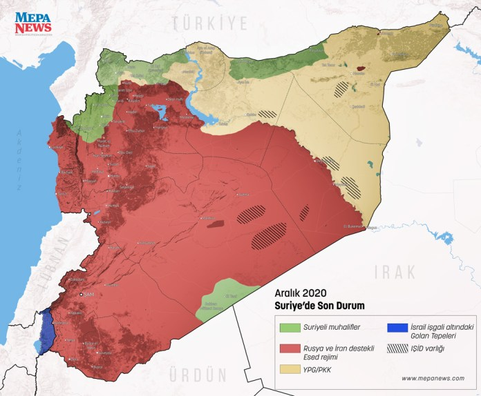 Mapa Sirije 2020