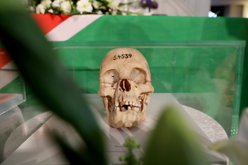 Commemoration service and handover of human remains to Namibian delegation in Berlin