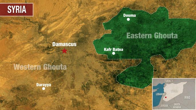 Oblast Istočne Gute obuhvata nekoliko gradova i nalazi se istočno od Damaska. Muslimani Istočne Gute su odolijevali svirepoj opsadi šijitskih snaga ravno 5 godina.