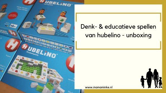 Denk- en educatieve spellen van Hubelino – unboxing