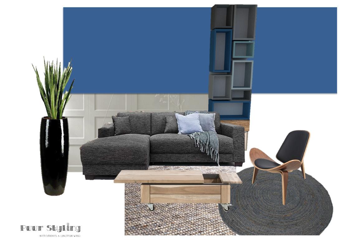 interieuradvies blauw modern klassiek